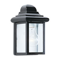 Sea Gull 8588-12 Mullberry Hill 1 Light 9 inch Black Outdoor Wall Lantern