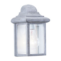 Sea Gull Lighting Mullberry Hill 1 Light Outdoor Wall Lantern in Pewter 8588-155