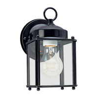 Sea Gull 8592-12 New Castle 1 Light 8 inch Black Outdoor Wall Lantern photo thumbnail