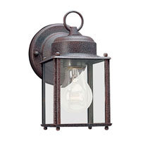 Sea Gull 8592-26 New Castle 1 Light 8 inch Sienna Outdoor Wall Lantern photo thumbnail