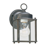 New Castle 1 Light 8 inch Antique Bronze Outdoor Wall Lantern