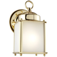 New Castle 1 Light 8 inch Polished Brass Outdoor Wall Lantern
