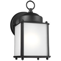 Sea Gull 8592001EN3-12 New Castle 1 Light 8 inch Black Outdoor Wall Lantern