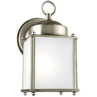 Sea Gull 8592001EN3-965 New Castle 1 Light 8 inch Antique Brushed Nickel Outdoor Wall Lantern