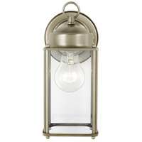 Sea Gull 8593-965 New Castle 1 Light 10 inch Antique Brushed Nickel Outdoor Wall Lantern