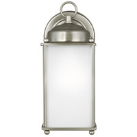 Sea Gull 8593001-965 New Castle 1 Light 10 inch Antique Brushed Nickel Outdoor Wall Lantern