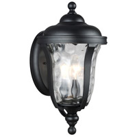 Sea Gull 8614203-12 Perrywood 3 Light 18 inch Black Outdoor Wall Lantern