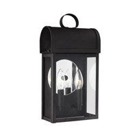 Conroe 2 Light 14 inch Black Outdoor Wall Lantern