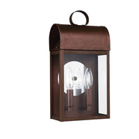 Conroe 2 Light 14 inch Weathered Copper Outdoor Wall Lantern