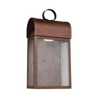 Conroe LED 14 inch Weathered Copper Outdoor Wall Lantern