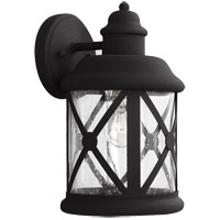 Sea Gull Lakeview 1 Light Outdoor Wall Sconce in Black 8621401-12