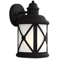 Sea Gull Lakeview 1 Light Outdoor Wall Sconce in Black 8621401BLE-12