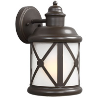 Sea Gull Lakeview 1 Light Outdoor Wall Sconce in Antique Bronze 8621401BLE-71