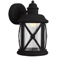 Lakeview 12 inch Black Outdoor Wall Sconce