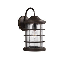 Sea Gull Sauganash 1 Light Wall Lantern in Antique Bronze 8624401-71
