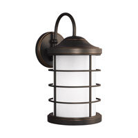 Sauganash 1 Light 17 inch Antique Bronze Outdoor Wall Lantern in Standard