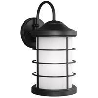 Sea Gull 8624451DEN3-12 Sauganash 1 Light 17 inch Black Outdoor Wall Lantern