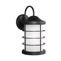 Sea Gull 8624451EN3-12 Sauganash 1 Light 17 inch Black Outdoor Wall Lantern