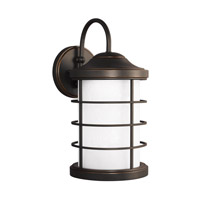 Sauganash LED 17 inch Antique Bronze Outdoor Wall Lantern in Darksky Compliant