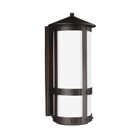 Groveton LED 21 inch Antique Bronze Outdoor Wall Lantern in Darksky Compliant