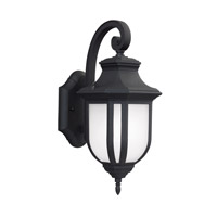 Childress 1 Light 15 inch Black Outdoor Wall Lantern in Fluorescent