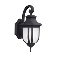 Sea Gull 8636391S-12 Childress LED 15 inch Black Outdoor Wall Lantern