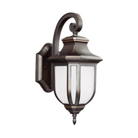 Childress LED 15 inch Antique Bronze Outdoor Wall Lantern