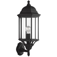 Sea Gull 8638701-12 Sevier 1 Light 22 inch Black Outdoor Wall Lantern