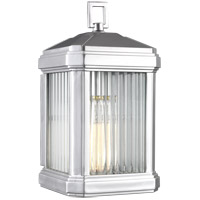 Sea Gull 8647431-753 Gaelan 1 Light 14 inch Painted Brushed Nickel Outdoor Wall Lantern