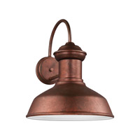 Sea Gull 8647701-44 Fredricksburg 1 Light 16 inch Weathered Copper Outdoor Wall Lantern