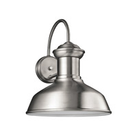 Sea Gull 8647701EN3-04 Fredricksburg 1 Light 16 inch Satin Aluminum Outdoor Wall Lantern