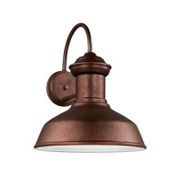 Sea Gull 8647701EN3-44 Fredricksburg 1 Light 16 inch Weathered Copper Outdoor Wall Lantern