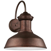 Sea Gull 8647793S-44 Fredricksburg LED 16 inch Weathered Copper Outdoor Wall Lantern