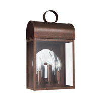 Sea Gull 8714803EN-44 Conroe 3 Light 17 inch Weathered Copper Outdoor Wall Lantern