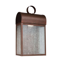 Conroe LED 17 inch Weathered Copper Outdoor Wall Lantern