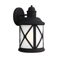 Sea Gull 8721451-12 Lakeview 1 Light 14 inch Black Outdoor Wall Lantern
