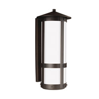 Groveton 2 Light 26 inch Antique Bronze Outdoor Wall Lantern in Fluorescent