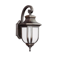 Childress 1 Light 21 inch Antique Bronze Outdoor Wall Lantern in Fluorescent