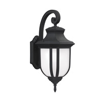 Sea Gull 8736301EN3-12 Childress 1 Light 21 inch Black Outdoor Wall Lantern