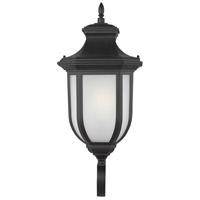 Sea Gull 8736401-12 Childress 1 Light 21 inch Black Outdoor Wall Lantern