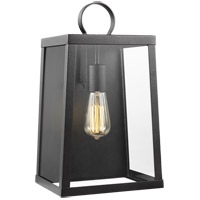 Sea Gull 8737101-839 Marinus 1 Light 16 inch Blacksmith Outdoor Wall Lantern