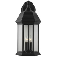 Sea Gull 8738703-12 Sevier 3 Light 23 inch Black Outdoor Wall Lantern