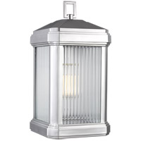 Sea Gull 8747431-753 Gaelan 1 Light 17 inch Painted Brushed Nickel Outdoor Wall Lantern