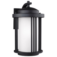 Sea Gull 8747901-12 Crowell 1 Light 15 inch Black Outdoor Wall Lantern