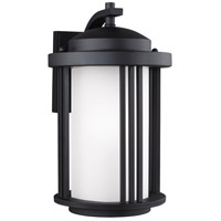 Sea Gull 8747901DEN3-12 Crowell 1 Light 15 inch Black Outdoor Wall Lantern
