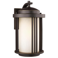 Sea Gull 8747901DEN3-71 Crowell 1 Light 15 inch Antique Bronze Outdoor Wall Lantern