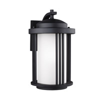 Sea Gull 8747901EN3-12 Crowell 1 Light 15 inch Black Outdoor Wall Lantern