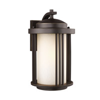 Sea Gull 8747901EN3-71 Crowell 1 Light 15 inch Antique Bronze Outdoor Wall Lantern