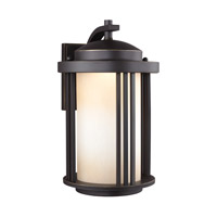 Crowell LED 15 inch Antique Bronze Outdoor Wall Lantern in Darksky Compliant