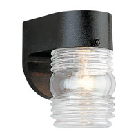 Sea Gull Lighting Signature 1 Light Outdoor Wall Lantern in Black 8750-12 photo thumbnail